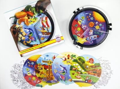 Assortment of activity cards to add to the clear round activity plate